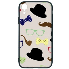 Moustache Hat Bowler Bowler Hat Iphone Xr Soft Bumper Uv Case