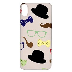 Moustache Hat Bowler Bowler Hat Iphone X/xs Soft Bumper Uv Case