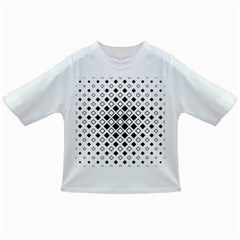 Square Diagonal Pattern Monochrome Infant/toddler T Shirts