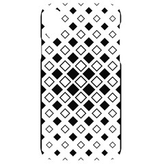 Square Diagonal Pattern Monochrome Iphone Xr Black Uv Print Case