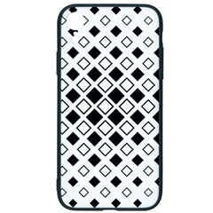 Square Diagonal Pattern Monochrome Iphone Xr Soft Bumper Uv Case