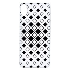 Square Diagonal Pattern Monochrome Iphone X/xs Soft Bumper Uv Case