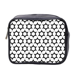 Pattern Star Repeating Black White Mini Toiletries Bag (two Sides) by Sapixe