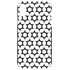 Pattern Star Repeating Black White Iphone Xr Black Uv Print Case