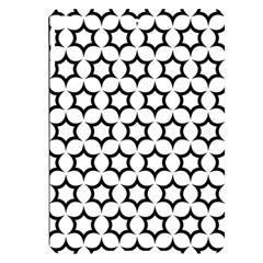 Pattern Star Repeating Black White Apple Ipad Pro 9 7   Black Uv Print Case