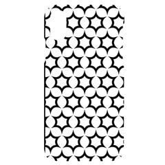 Pattern Star Repeating Black White Iphone X/xs Black Uv Print Case