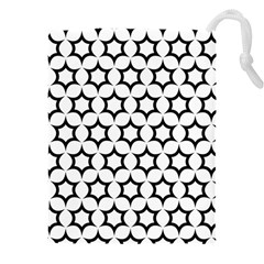 Pattern Star Repeating Black White Drawstring Pouch (xxxl)