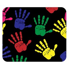 Handprints Hand Print Colourful Double Sided Flano Blanket (small)