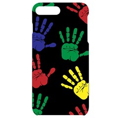 Handprints Hand Print Colourful Iphone 7/8 Plus Black Uv Print Case