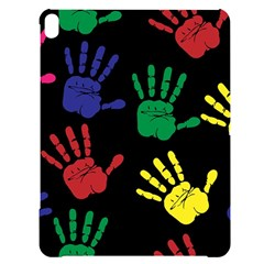 Handprints Hand Print Colourful Apple Ipad Pro 12 9   Black Uv Print Case