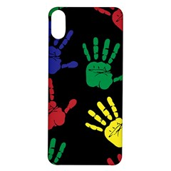 Handprints Hand Print Colourful Iphone X/xs Soft Bumper Uv Case