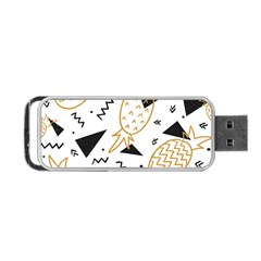 Black & Gold Pineapples Portable Usb Flash (two Sides) by goljakoff