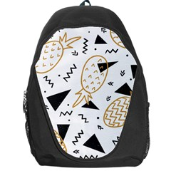 Black & Gold Pineapples Backpack Bag by goljakoff