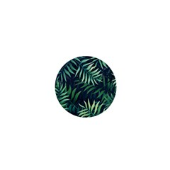 Night Tropical Leaves 1  Mini Buttons by goljakoff