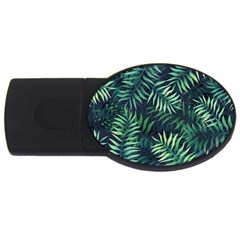 Night Tropical Leaves Usb Flash Drive Oval (4 Gb) by goljakoff