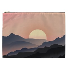 Sunset Sky Sun Graphics Cosmetic Bag (xxl) by HermanTelo