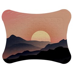Sunset Sky Sun Graphics Jigsaw Puzzle Photo Stand (bow) by HermanTelo