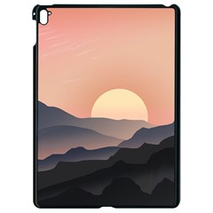 Sunset Sky Sun Graphics Apple Ipad Pro 9 7   Black Seamless Case by HermanTelo