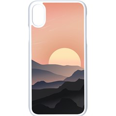 Sunset Sky Sun Graphics Iphone X Seamless Case (white)