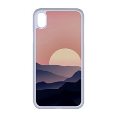 Sunset Sky Sun Graphics Iphone Xr Seamless Case (white)
