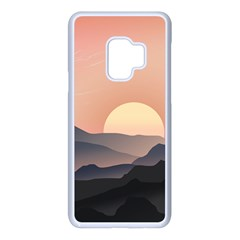 Sunset Sky Sun Graphics Samsung Galaxy S9 Seamless Case(white) by HermanTelo