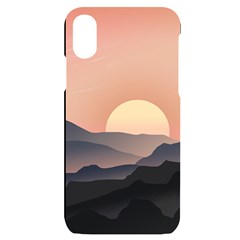 Sunset Sky Sun Graphics Iphone X/xs Black Uv Print Case