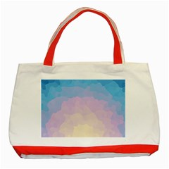 Sunrise Sunset Colours Background Classic Tote Bag (red) by HermanTelo