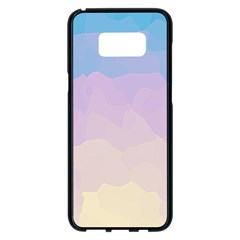 Sunrise Sunset Colours Background Samsung Galaxy S8 Plus Black Seamless Case