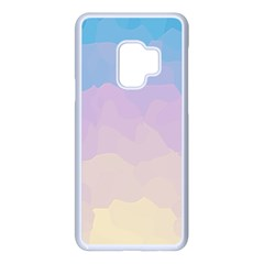 Sunrise Sunset Colours Background Samsung Galaxy S9 Seamless Case(white)