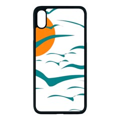 Sunset Glow Sun Birds Flying Iphone Xs Max Seamless Case (black)