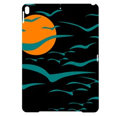 Sunset Glow Sun Birds Flying Apple Ipad Pro 10 5   Black Uv Print Case