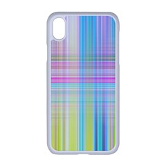 Texture Abstract Squqre Chevron Iphone Xr Seamless Case (white)