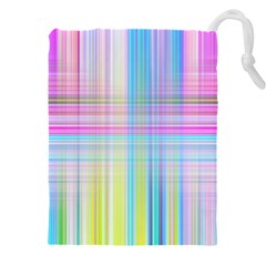 Texture Abstract Squqre Chevron Drawstring Pouch (xxxl)