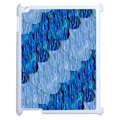 Texture Surface Blue Shapes Apple Ipad 2 Case (white)