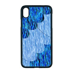 Texture Surface Blue Shapes Iphone Xr Seamless Case (black)