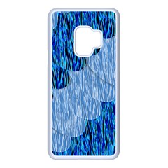Texture Surface Blue Shapes Samsung Galaxy S9 Seamless Case(white)