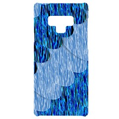Texture Surface Blue Shapes Samsung Note 9 Black Uv Print Case  by HermanTelo
