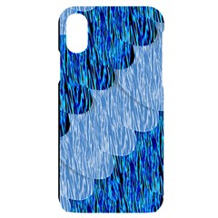 Texture Surface Blue Shapes Iphone X/xs Black Uv Print Case