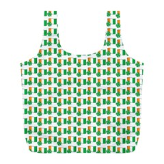 St Patricks Day Background Ireland Full Print Recycle Bag (l)