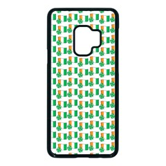 St Patricks Day Background Ireland Samsung Galaxy S9 Seamless Case(black)