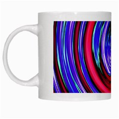 Swirl Vortex Motion White Mugs