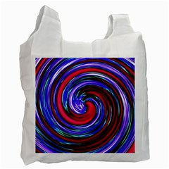 Swirl Vortex Motion Recycle Bag (one Side) by HermanTelo