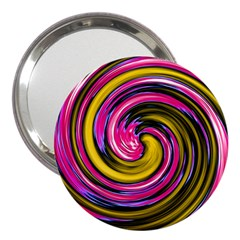 Swirl Vortex Motion Pink Yellow 3  Handbag Mirrors by HermanTelo