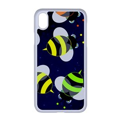 Textured Bee Iphone Xr Seamless Case (white)