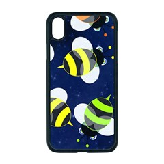 Textured Bee Iphone Xr Seamless Case (black)