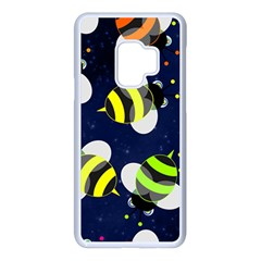 Textured Bee Samsung Galaxy S9 Seamless Case(white)