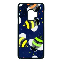 Textured Bee Samsung Galaxy S9 Seamless Case(black)