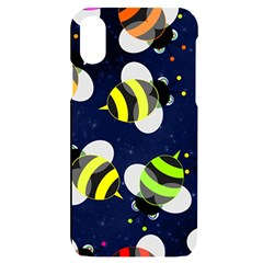 Textured Bee Iphone X/xs Black Uv Print Case by HermanTelo