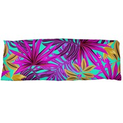 Tropical Greens Pink Leaves Body Pillow Case Dakimakura (two Sides) by HermanTelo