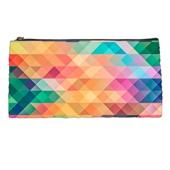 Texture Triangle Pencil Cases